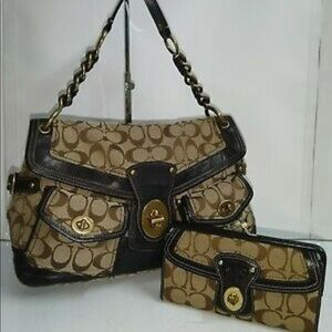 Coach Legacy Shoulder Bag and Wallet